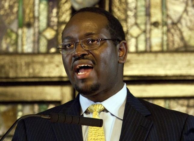 Rev. Clementa Pinckney speaks during the Watch Night service at Emanuel African Methodist Episcopal Church in Charleston, South Carolina in a December 31, 2012 file photo.