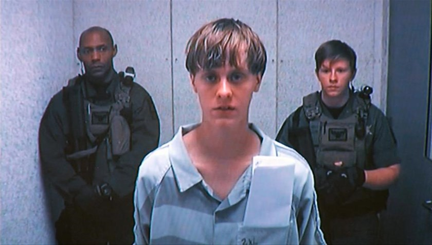 Dylann Storm Roof appears by closed-circuit televison at his bond hearing in Charleston, South Carolina June 19, 2015 in a still image from video.
