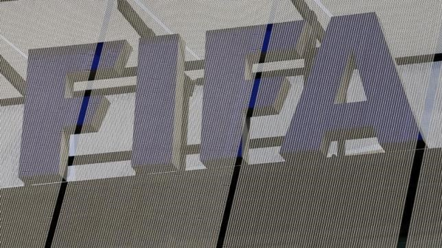 The logo of soccer's international governing body FIFA is seen on its headquarters in Zurich October 3, 2013.
