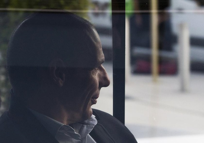 Greek Finance Minister Yanis Varoufakis leaves a Eurozone finance ministers emergency meeting in Brussels, Belgium June 24, 2015.