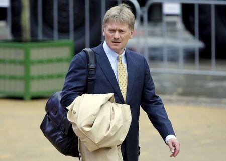 Kremlin spokesman Peskov arrives for the opening of the Army-2015 International Military-Technical Forum in Kubinka, outside Moscow, Russia