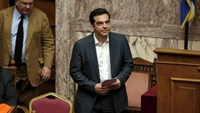 Greek Prime Minister Alexis Tsipras arrives for a parliamentary session in Athens, Greece July 16, 2015.