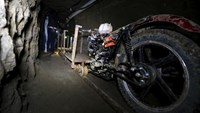 A motorcycle modified to run on rails is seen inside a tunnel connected to the Altiplano Federal Penitentiary and used by drug lord Joaquin 'El Chapo' Guzman to escape, in Almoloya de Juarez, on the outskirts of Mexico City, July 15, 2015.
