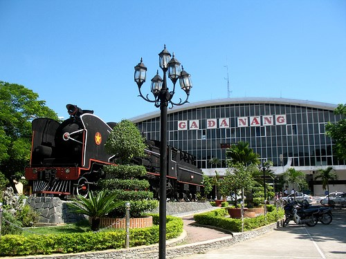 A file photo of the train station of Da Nang City