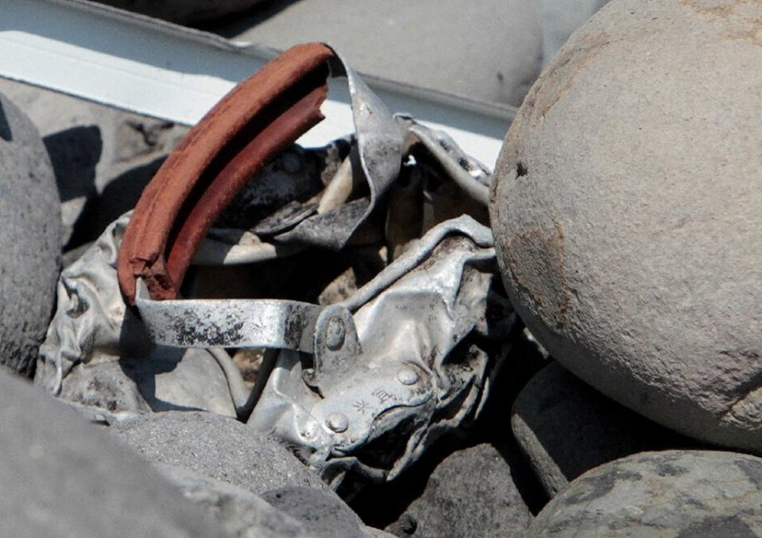 The metallic debris found on a beach on La Reunion island on August 2, 2015, close to where part of Boeing 777 wing was found, sparking speculation it may be first tangible evidence that a Malaysia Airlines plane crashed into Indian Ocean