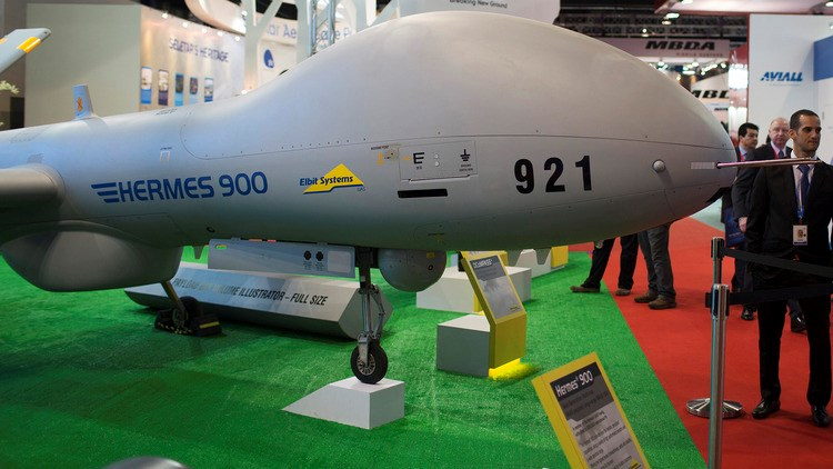 The Hermes 900 unmanned aerial vehicle manufactured by Elbit Systems Ltd.