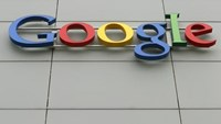 A logo is pictured at Google's European Engineering Center in Zurich April16, 2015.