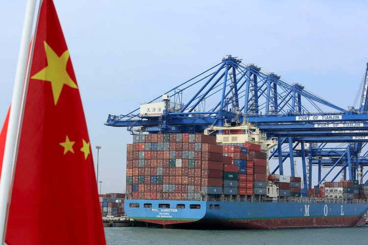 China exports fall as lower demand, strong yuan hurt growth