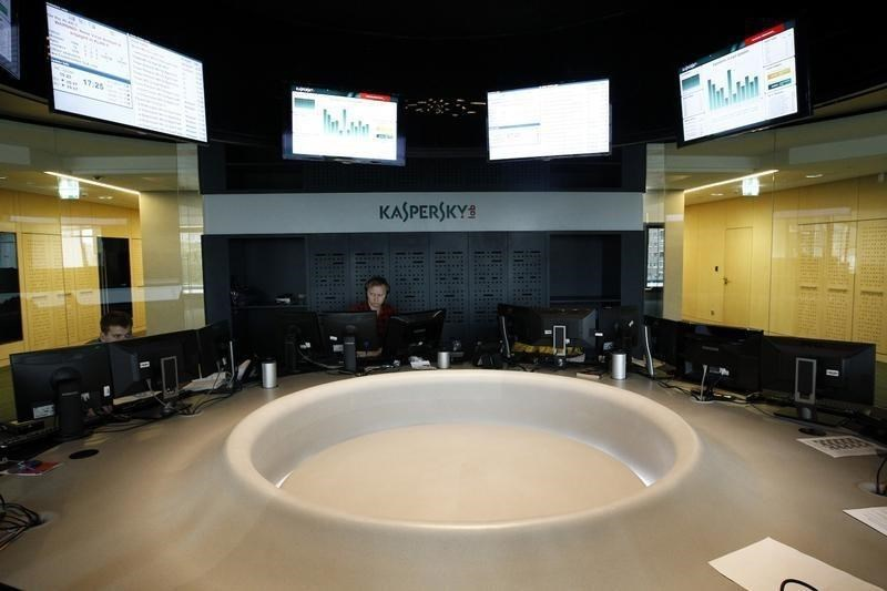 Employees work at the headquarters of Kaspersky Labs, a company which specialises in the production of antivirus and internet security software, in Moscow July 29, 2013.