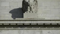 A detail from the front of the United States Federal Reserve Board building is shown in Washington October 28, 2014.