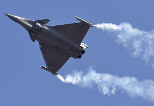 A Dassault Rafale combat aircraft performs during the inauguration ceremony of 'Aero India 2013