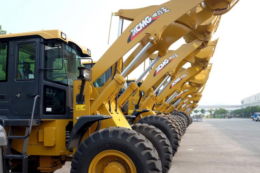XCMG front loaders are seen in Xuzhou, Jiangsu province, China August 14, 2015.