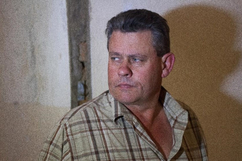 Professional Zimbabwean hunter Theo Bronkhorst leaves the Magistrate's Court in Hwange on July 29, 2015, after proceedings on poaching charges