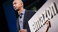 Amazon.com founder and CEO Jeff Bezos, pictured on June 18, 2014, introduced a seven-inch Fire tablet which costs $50