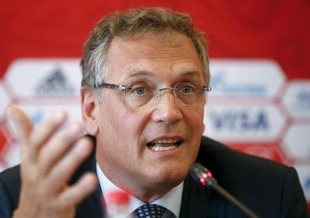 Jerome Valcke in Russia, June 10, 2015.