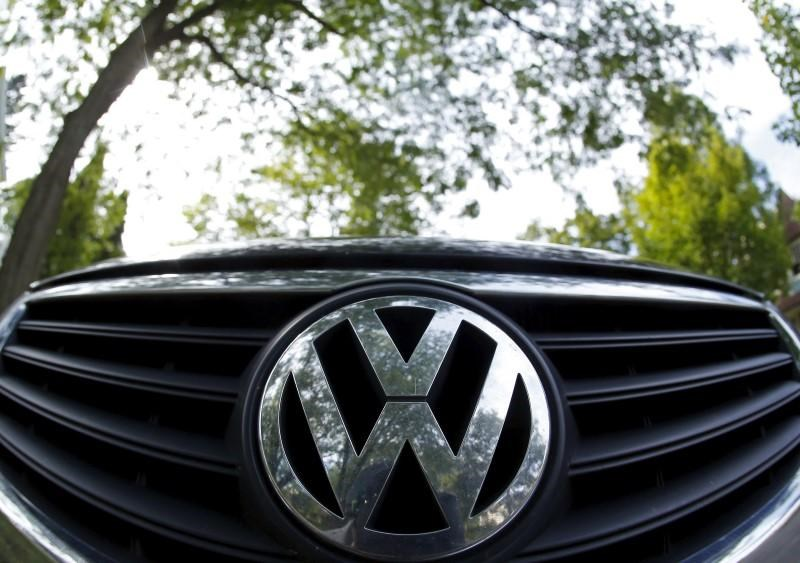 The logo of German carmaker Volkswagen is seen on the front grill of a Passat car in Willmette, Illinois, September 24, 2015.