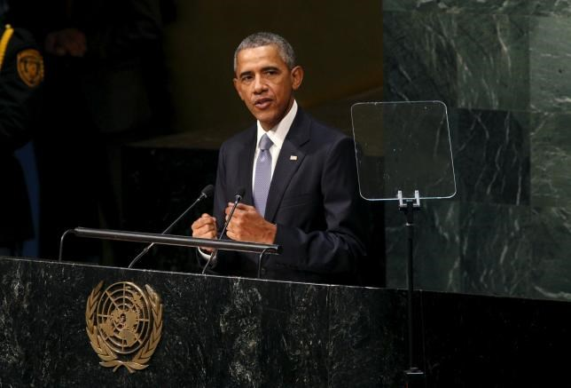 U.S. President Barack Obama addresses the United Nations General Assembly in New York September 28, 2015.