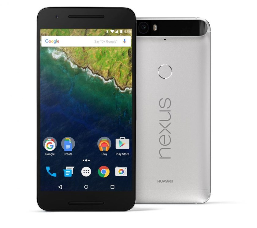 Undated handout photo of the Google Nexus 6P