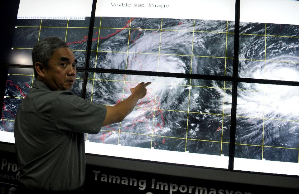 Philippines warns Typhoon Koppu could linger for days
