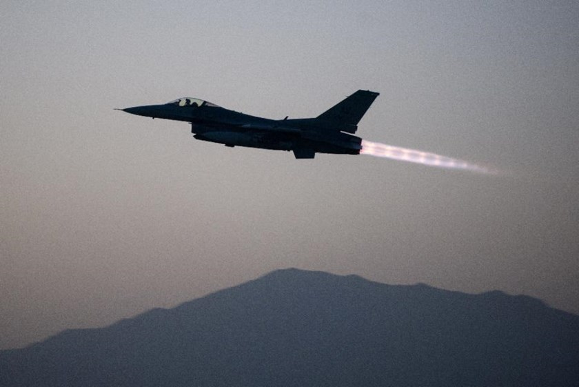 US military said the $100 million jet was forced to jettison its fuel tanks and munitions