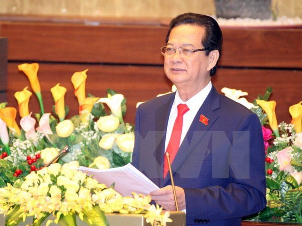 Prime Minister Nguyen Tan Dung speaks at the National Assembly's 10th session opened in Hanoi on October 20, 2015. Photo: TTXVN/Thong Nhat