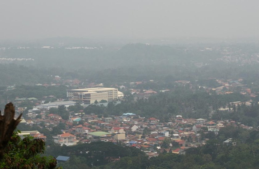 The Philippines cancelled flights and put hospitals on alert on Sunday, as its southern and central islands were covered by thickening haze from Indonesian forest fires.