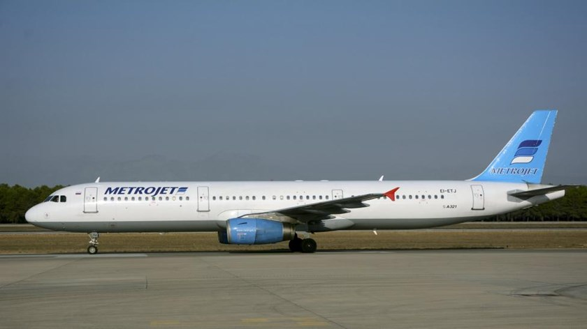 Metrojet's Airbus A-321 with registration number EI-ETJ that crashed in Egypt's Sinai peninsula, is seen in this picture taken in Antalya, Turkey September 17, 2015.