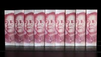 Chinese 100 yuan banknotes are seen in this picture illustration taken in Beijing in this July 11, 2013 file photo.