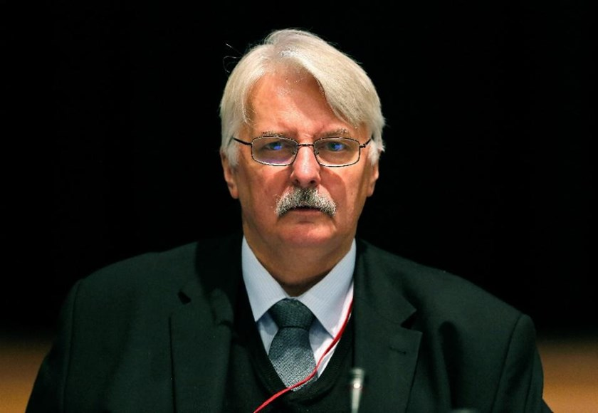 "Poland's new foreign minister Witold Waszczykowski, pictured on November 23, 2014, suggests Syrian refugees pouring into Europe can be trained to form an army and return to ""liberate"" their homeland"