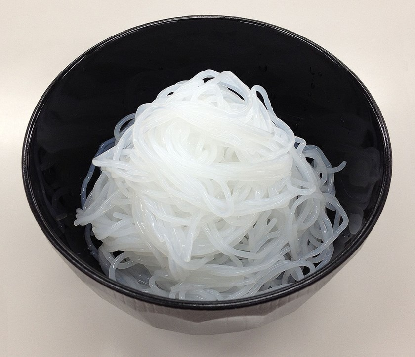 Omikenshi's noodles made from a mixture of cellulose pulp and konjac plant Source: Omikenshi Co.