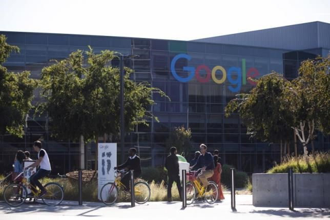 The new Google logo is seen at the Google headquarters in Mountain View, California November 13, 2015.