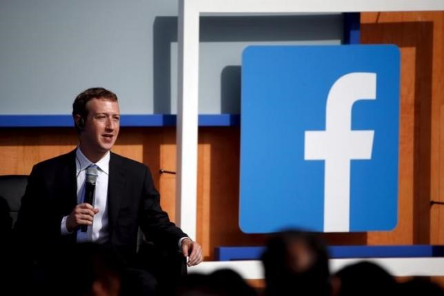 Facebook CEO Mark Zuckerberg speaks on stage during a town hall at Facebook's headquarters in Menlo Park, California September 27, 2015.