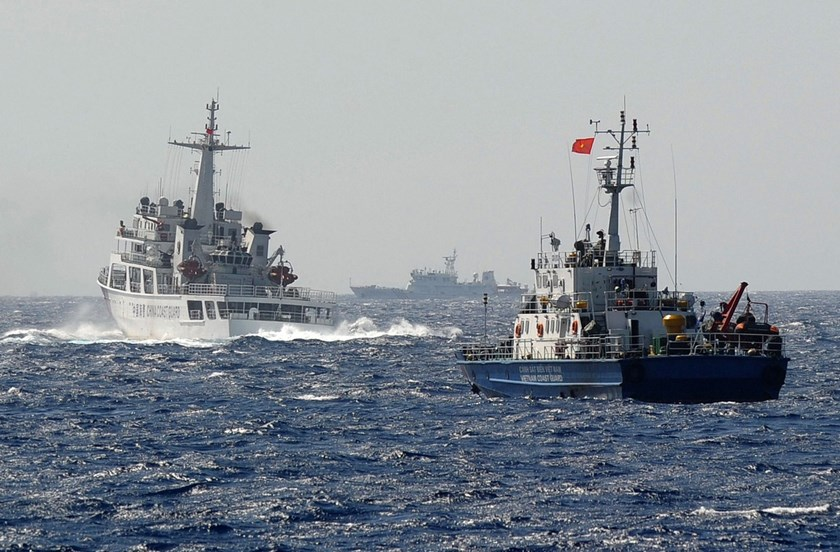 A Chinese coast guard vessel near the area of China's oil drilling rig in Vietnam's exclusive economic zone in the South China Sea.