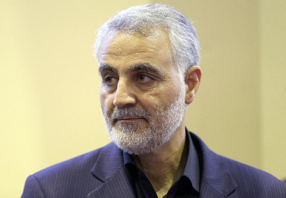 Iran general Soleimani lightly wounded in Syria