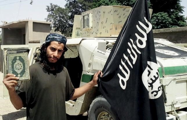 An undated photograph of a man described as Abdelhamid Abaaoud that was published in the Islamic State's online magazine Dabiq.