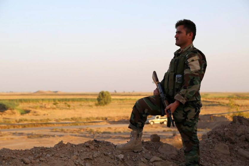 Peshmerga forces from Iraq's autonomous Kurdish region are deployed in the Bashiqa area northeast of Mosul, and Turkey's Anatolia news agency said the troops were there to train them