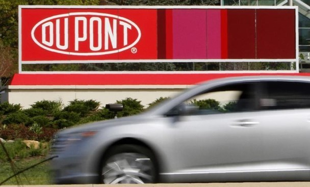 A view of the Dupont logo on a sign at the Dupont Chestnut Run Plaza facility near Wilmington, Delaware, April 17, 2012.