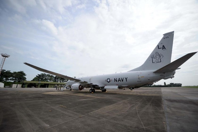 The United States has deployed a P-8 Poseidon spy plane in Singapore for the first time this month