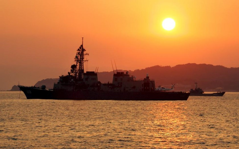 Japanese vessels are seen off Genkaijima Island, north of Fukuoka on Japan's southwestern island of Kyushu in this March 21, 2005 file photo.