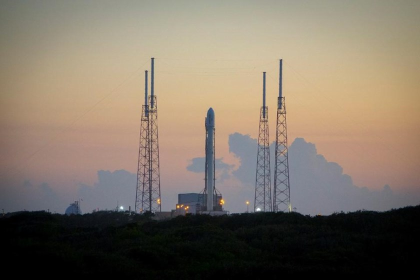 SpaceX's Falcon 9 rocket pictured on December 16, 2015