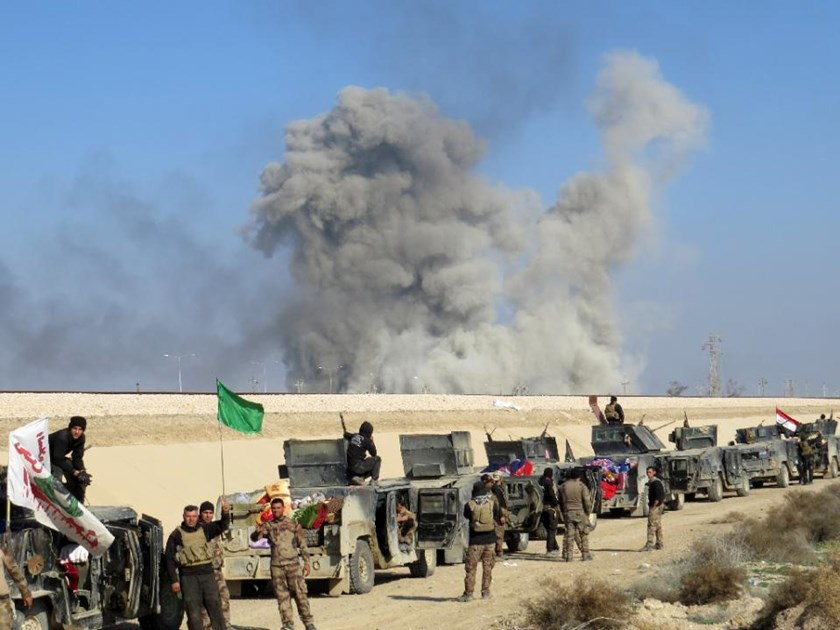 Iraqi forces are closing in on the Islamic State group's last redoubts in central Ramadi