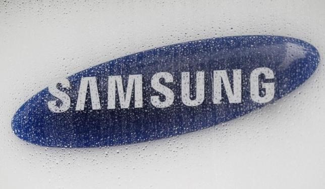 The logo of Samsung Electronics is seen at the company's headquarters in Seoul July 6, 2012.