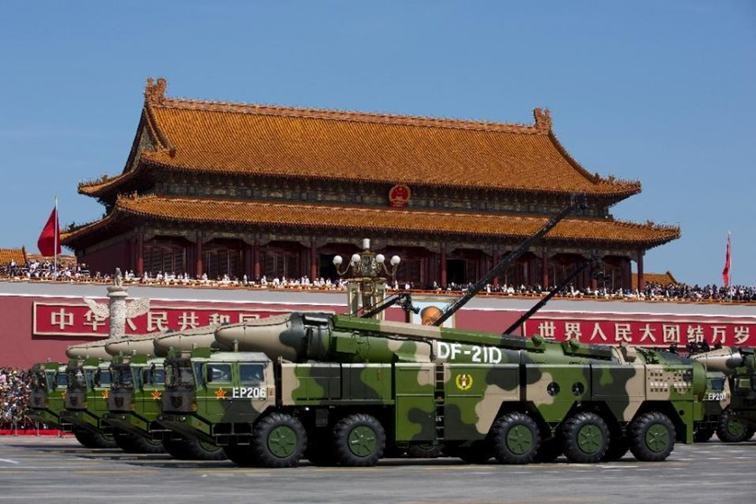 At a military parade in September 2015, China showed off 'carrier-killer' missiles, including the land-based DF-21D intermediate-range type which is thought to be equipped with onboard terminal guidance systems