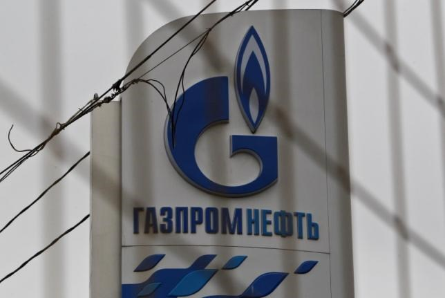 The company logo of Gazprom Neft is seen at a service station in Moscow November 12, 2013.