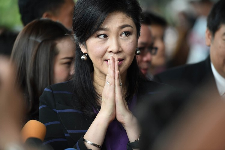 Deposed former Thai premier Yingluck Shinawatra arrives at the supreme court for a hearing in Bangkok on Friday. Photo: AFP