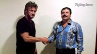Actor Sean Penn (L) shakes hands with Mexican drug lord Joaquin ''Chapo'' Guzman in Mexico, in this undated Rolling Stone handout photo obtained by Reuters on January 10, 2016.