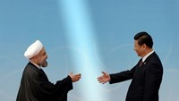 Iran's President Hassan Rouhani (L) shakes hands with his Chinese counterpart Xi Jinping before the opening ceremony of the fourth Conference on Interaction and Confidence Building Measures in Asia (CICA) summit in Shanghai May 21, 2014.