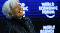 Christine Lagarde, Managing Director of the International Monetary Fund (IMF) attends the session ''The Global Economic Outlook'' during the annual meeting of the World Economic Forum (WEF) in Davos, Switzerland January 23, 2016.