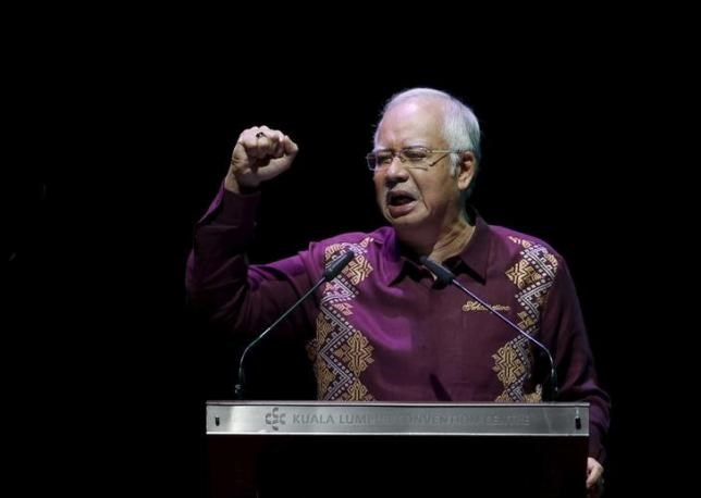 Malaysia's Prime Minister Najib Razak addresses the nation in a National Day message in the capital city of Kuala Lumpur August 30, 2015.