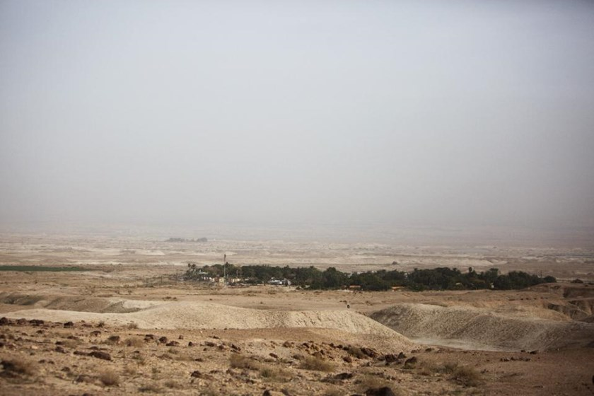 A general view taken on January 21, 2016 shows the Israeli Almog settlement in the Israeli occupied West Bank